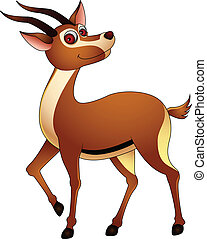 cute gazelle cartoon - vector illustration of gazelle...