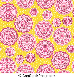 Cute geometric round folk flower.
