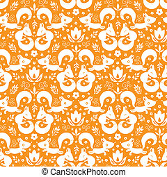 Cute geometrical foxes seamless pattern background - vector...