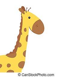 cute giraffe animal isolated icon