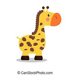 cute giraffe baby icon
