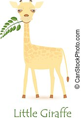 Cute Giraffe Calf Isolated on White with the Caption. Made...