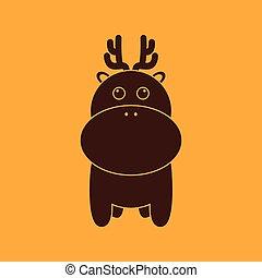 Cute giraffe silhouette