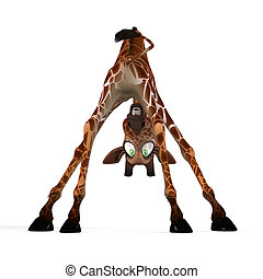 Cute giraffe with a funny face - lovely - Rendered Image of ...