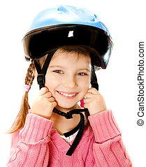 girl in crash helmet