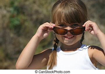 cute girl in shades