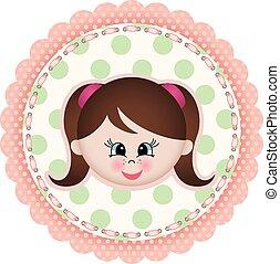 Cute girl label