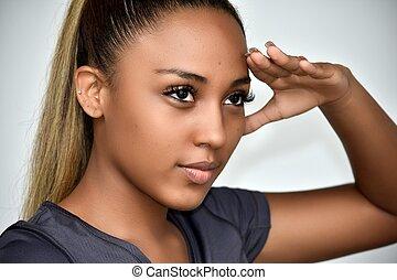 Cute Girl Looking