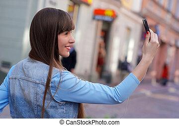 Cute girl on the street