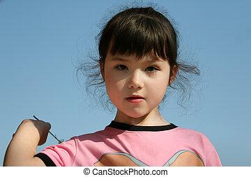 Cute girl outdoor