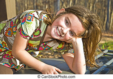 Cute Girl Portrait Outside