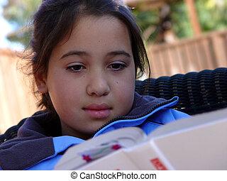Cute girl reading