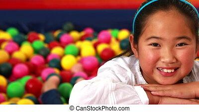 Cute girl smiling at camera