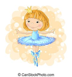 cute girl vector Romantic hand drawing poster cartoon character For apparel or other uses in vector pretty graphic Dancing child