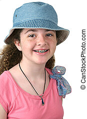Cute Girl W/ Braces - A cute girl with braces wearing a ...