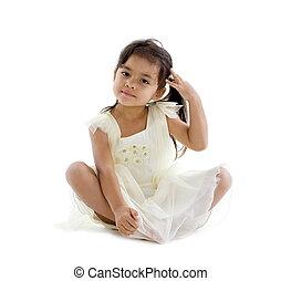 cute girl with nice dress