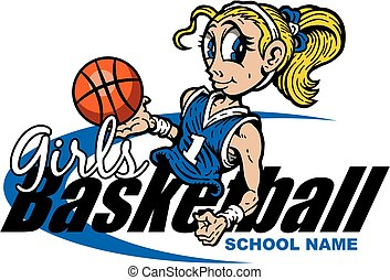 girls basketball illustrations and stock art 1 823 girls basketball rh canstockphoto com girls basketball clipart images girl player basketball clipart black and white