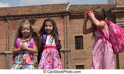Cute Girls Preschool Children