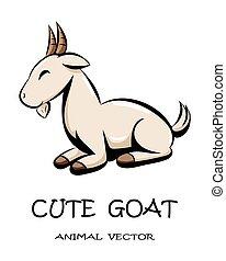 Cute goat animal vector eps 10
