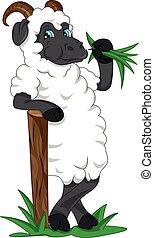 cute goat cartoon