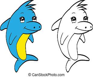 cute, golfinho