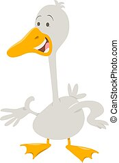 cute goose farm animal character