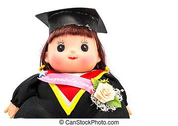 cute, graduação, menina