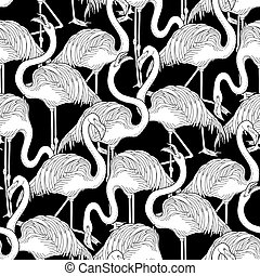 Cute graphic flamingo pattern