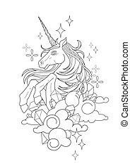 Cute graphic unicorn