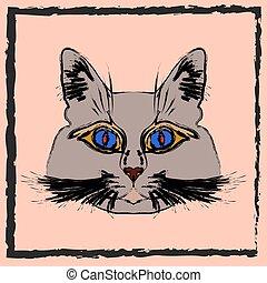 Cute gray cat.