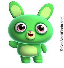 cute green bunny