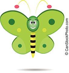 Cute Green Butterfly