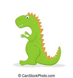 Cute Green Dinosaur
