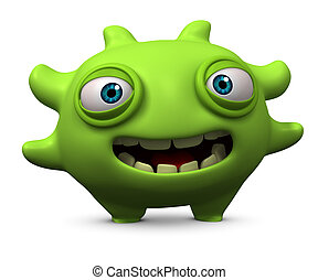 cute green monster
