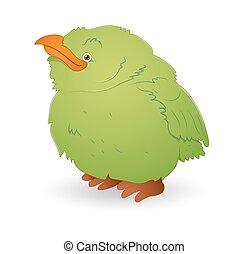 Cute Green Small Bird