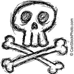 cute grunge skull