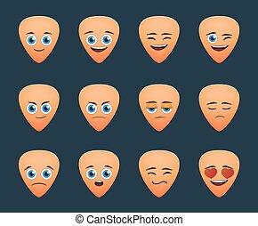 cute guitar pick  avatar expression set