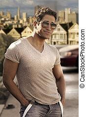 Cute guy in sunglasses