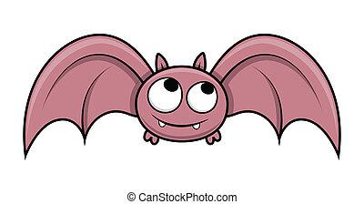Cute Halloween Bat Flying