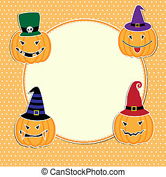 Cute Halloween card with space for text