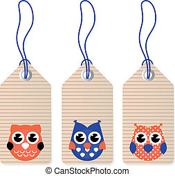 Cute halloween owl blank tags