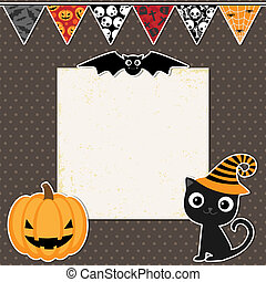 Cute Halloween party card