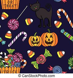 cute, halloween, seamless