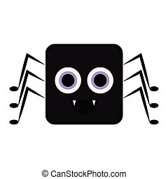 Cute halloween spider cartoon character
