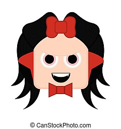 Cute halloween vampire cartoon character