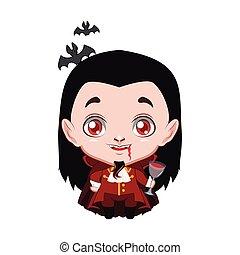 cute, halloween, vampyr, illustration