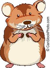 Cute hamster cartoon character