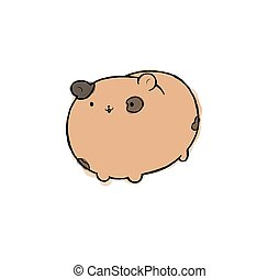 Cute Hamster In A Hamster Wheel 3d Rendering Of A Sweet Hamster And