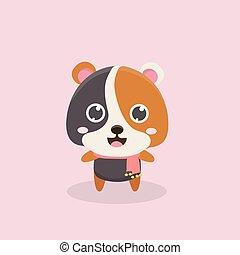 Cute hamster.