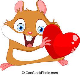 Cute hamster valentine
